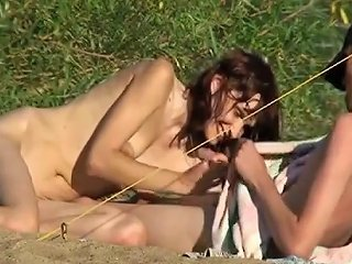 Nudists Sucking And Fucking By The River