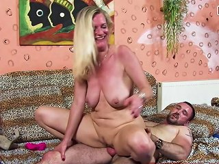 German Mature Milf Housewife Seduce Younger Guy For Sex