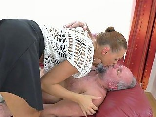 Beautiful Babe Ornella Morgan Gets Intimate With One Old Fart
