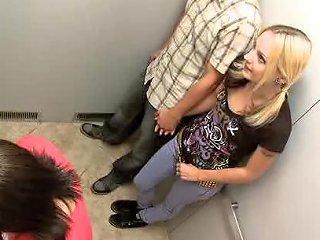 Slutty Girls Elevator Sex
