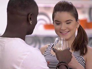 Very Huge Dick Of Black Lover Makes White Teen Happy