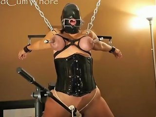 Cum Whore Is Bound Vibed Amp Flogged Then Fed Her Treat