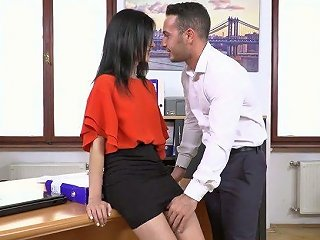 Young Boss Is Fucking Sexy Leggy Secretary Nikki Fox In The Office