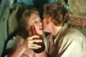 Young And Drunk Brunette Hussy Gets Laid At The Wagon