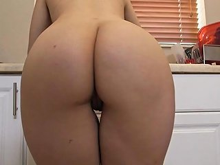 Big Booty Maid Nadia Ali Shakes Her Ass While Cleaning The Kitchen