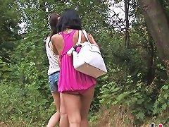 Two Horny Lesbian Sluts Lick Their Wet Twats