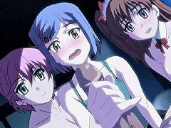 Cute Anime Group Threesome Fucked