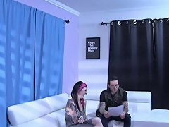 Tattooed Goth Babe Spreads Her Legs And Teases Her Clit