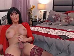 Insanely Hot Tranny With Big Boobs And Stockings