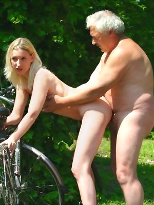 Blonde Beauty Gets Fucked By An Older Male